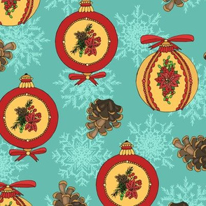 Christmas blue pattern