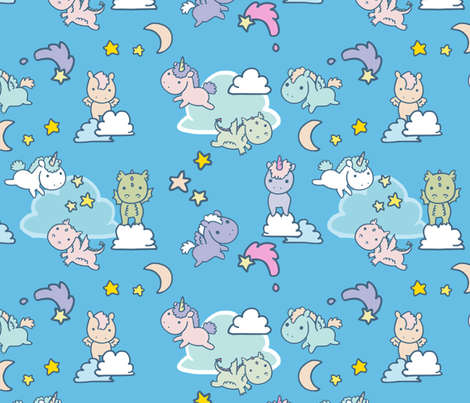 Magical Friends fabric by lyddiedoodles on Spoonflower - custom fabric