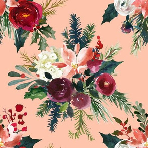 Classic Christmas Floral //Peachy