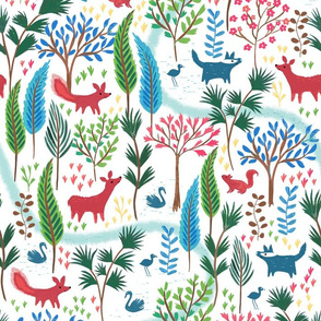 Woodland Nursery Wallpaper