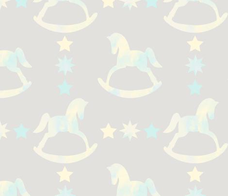 Watercolor Rocking horse  fabric by krystalsavage on Spoonflower - custom fabric