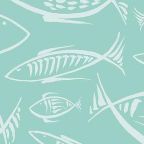 fishes dream aqua (no bubbles)