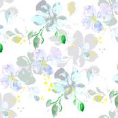 watercolor pastel flowers