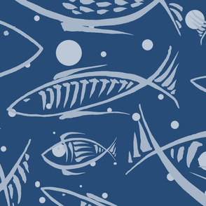 Fishes dream (blue)