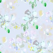 watercolor flowers on lavender