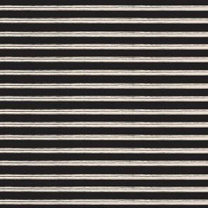 Breton Grunge Stripe Ecru on Black