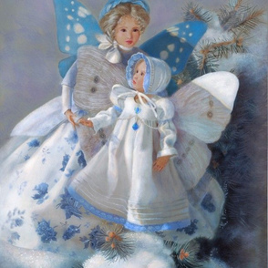 Panel of Snow Fairies in Blue