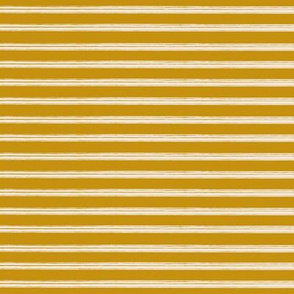 Breton Grunge Stripe Ecru on Mustard