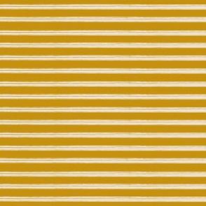 Breton Grunge Stripe Ecru on Mustard