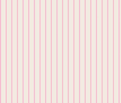 baseball stripes- soft pink on cream fabric by drapestudio on Spoonflower - custom fabric