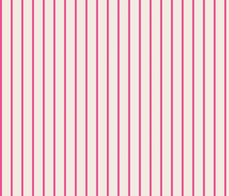 baseball stripes- hot pink on cream fabric by drapestudio on Spoonflower - custom fabric