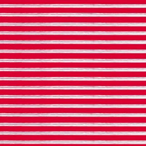 Breton Grunge Stripe White on Red