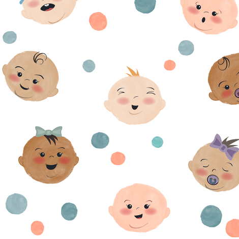 Babies Love Babies fabric by jennifer_todd on Spoonflower - custom fabric
