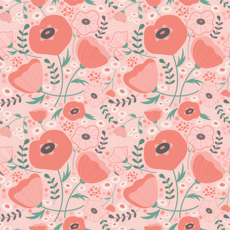 poppypinkpink fabric by lauralogan on Spoonflower - custom fabric
