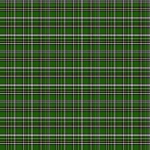green and black tartan plaid 2x2