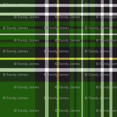 green and black tartan plaid 4x4