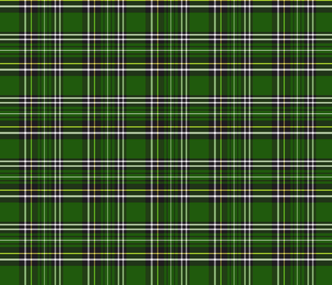 green and black tartan plaid 4x4 fabric by leroyj on Spoonflower - custom fabric