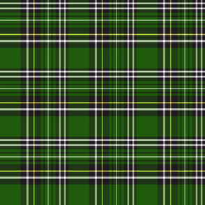 green and black tartan plaid 6x6