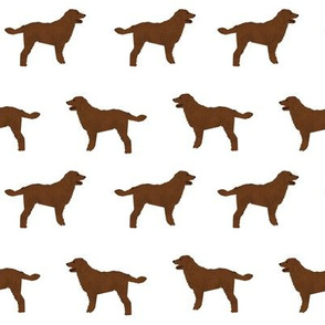 brown doodle fabric - doodle dog fabric, - Spoonflower