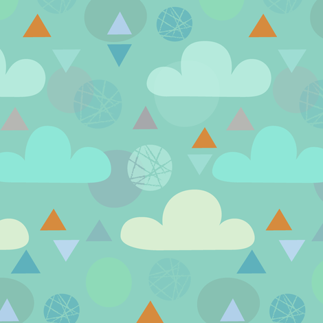 silver lining fabric by studiojenny on Spoonflower - custom fabric