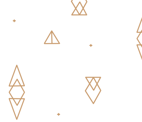 Large Scale - Caramel Tan Geo Triangles on White fabric by sweeterthanhoney on Spoonflower - custom fabric