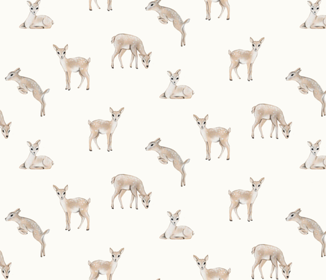Freckled Fawn fabric by curious+fanciful on Spoonflower - custom fabric
