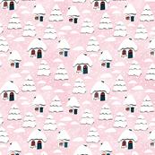 Christmas Houses pink
