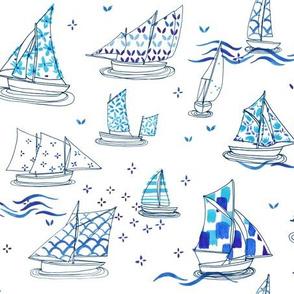 Sailboat chinoiserie