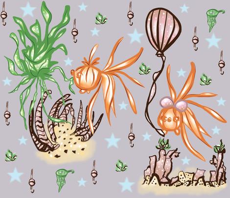 Soothing Aquarium fabric by cutebugbubbles on Spoonflower - custom fabric