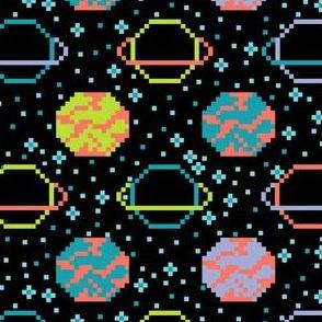 8-Bit Galaxy Fair Isle Sweater