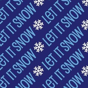 Christmas Let It Snow Holiday Winter Blue