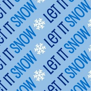 Christmas Let It Snow Holiday Winter Blue 8-01