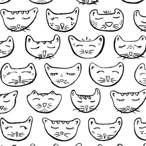 Sleepy Kitty Coloring Book // Color in Your Own Cats // Halloween, Kids, Decor, Apparel, Gifts, Party Favors, Nursery, Cat Lovers