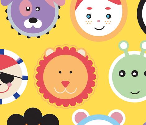 kids & pets fabric by lisahilda on Spoonflower - custom fabric
