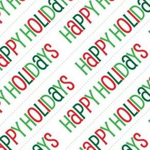 Christmas Happy Holidays Christmas Red Green Diagonal Cute Holiday Design