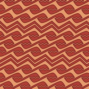 geometric orange gold design shapes abstract