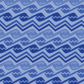 geometric lite blues design shapes abstract