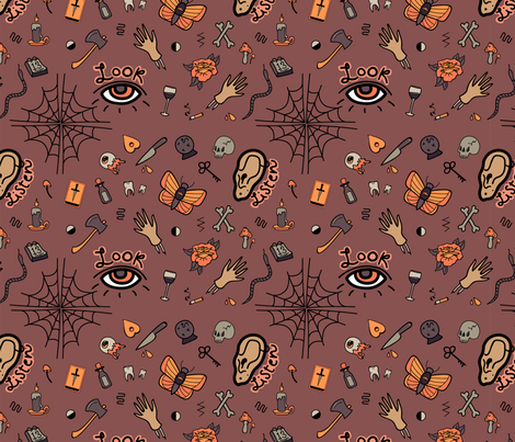 Look – Listen.  fabric by asitmae on Spoonflower - custom fabric