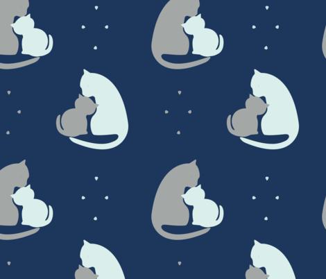 Kitten Kisses by Spritely Design fabric by spritelydesign on Spoonflower - custom fabric