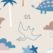 Dinosaur Land - neutral pastels