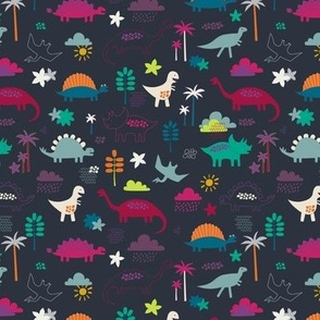 Dinosaur Land - chalkboard