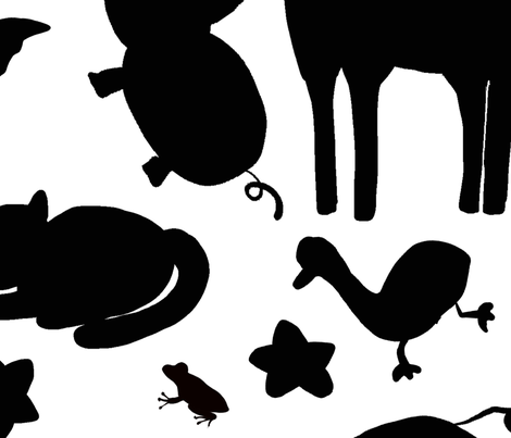 Black and White Animals fabric by abbyjacdesigns on Spoonflower - custom fabric