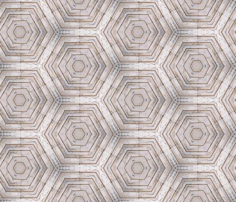Barn Shiplap Honeycomb  fabric by sewingscientist on Spoonflower - custom fabric