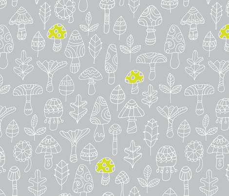 Petit Champignon Mignon fabric by snowflower on Spoonflower - custom fabric