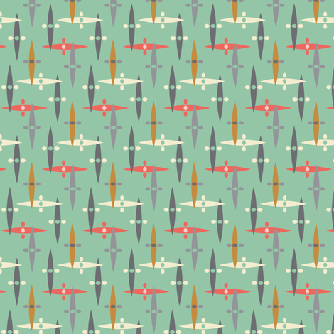bop tweed  sage fabric by studiojenny on Spoonflower - custom fabric