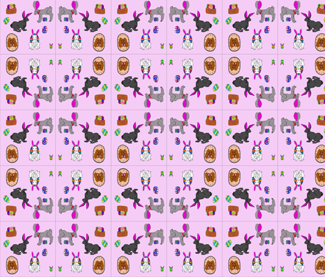easter pattern fabric by nuggetbunny on Spoonflower - custom fabric
