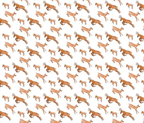 Leaping Deer fabric by summaludwig on Spoonflower - custom fabric