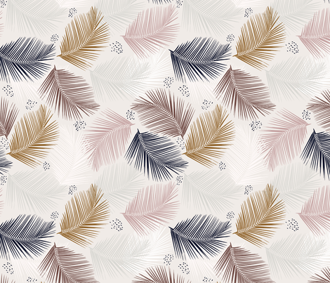indie palm fabric by alison_janssen on Spoonflower - custom fabric