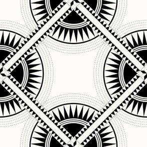 Circa: Jumbo Black & Cream Graphic Quilt