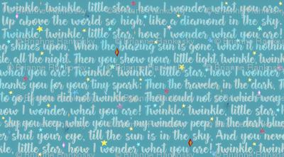 Twinkle Little Star Teal
